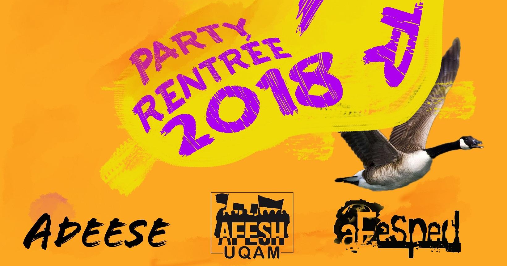 Party De La Rentrée !