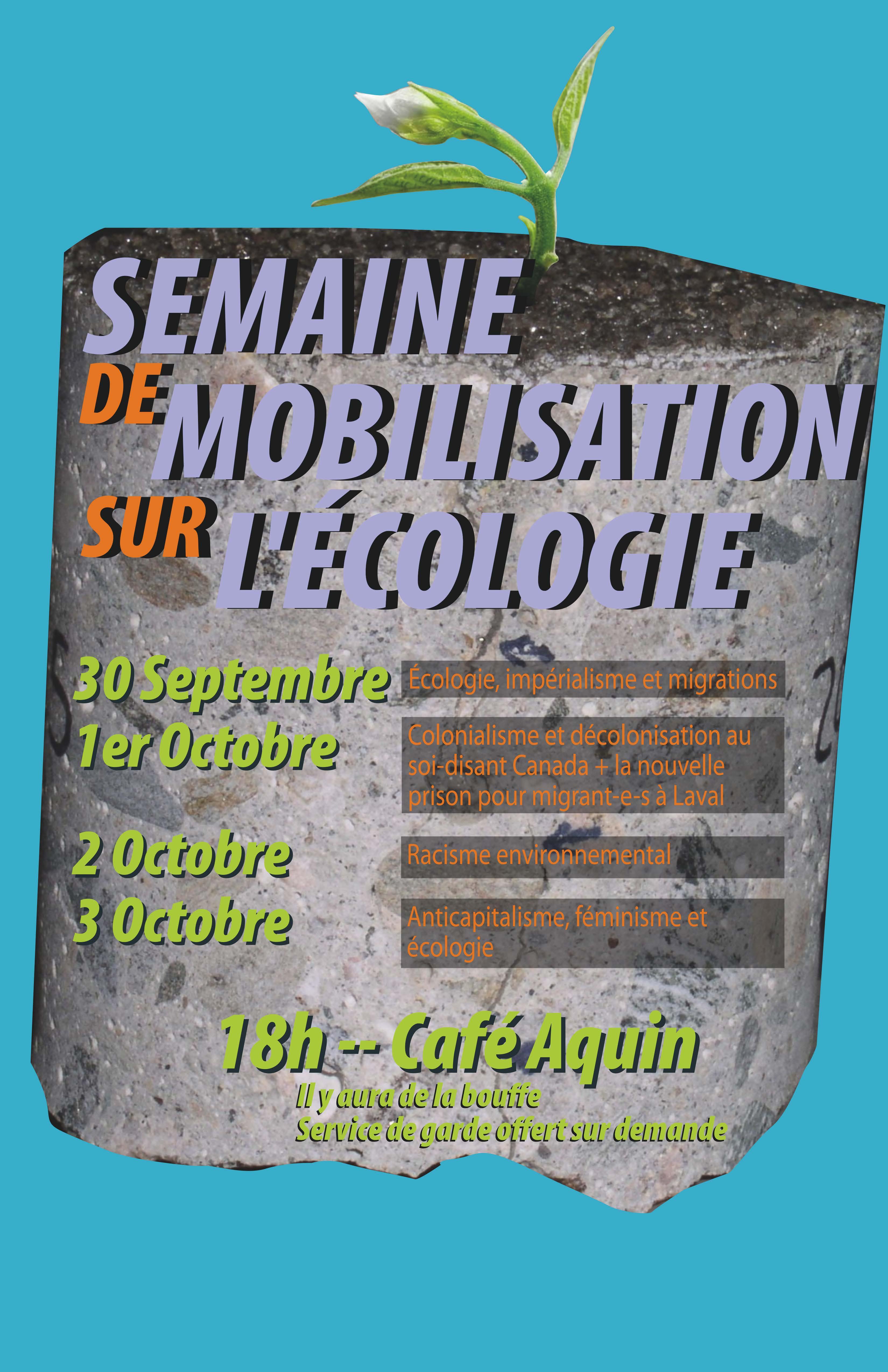 Semaine De Mobilisation Sur L'écologie